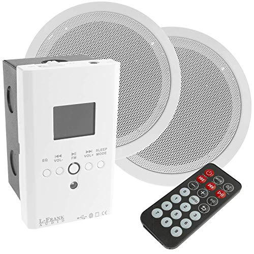 BeMatik - Amplificador Reproductor Multimedia con Altavoces empotrables de Techo