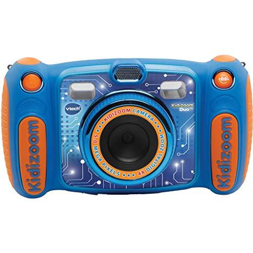 Vtech Kidizoom Duo 5.0 Digitalkamera für Kinder, 5 Megapixel, Farbdisplay, 2 Objektive, Pink Version Benelux blau