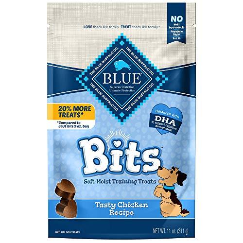 Blue Buffalo Blue Bits Natural Soft-Moist Training Dog Treats, Chicken Recipe 11-oz Bag