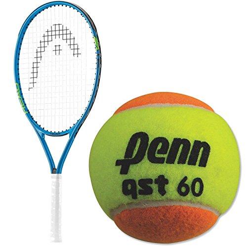 HEAD Speed Junior Boy 's con un Paquete de niños Raqueta de Tenis Entrenamiento Pelotas de Tenis, Orange, 3pk