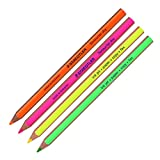 Staedtler Textsurfer Dry Highlighter Pencil 128 64 Drawing for Writing Sketching Inkjet,paper,copy,fax(pack of 4) (Color Mix-4 Pencils) by Staedtler