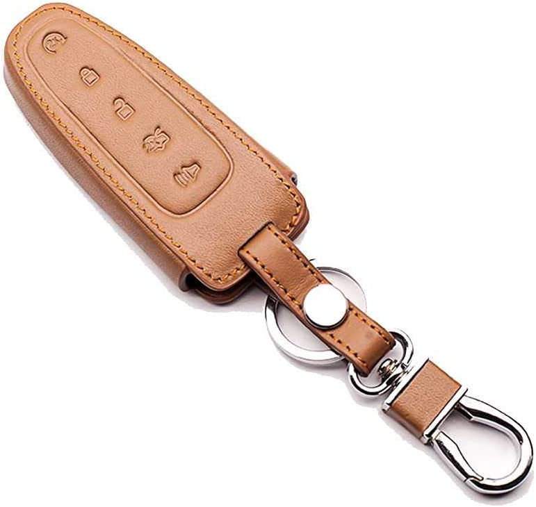 SAXTZDS Car We OFFer at cheap prices Omaha Mall 5 Buttons Leather Remote Cover Key Fit f Protection