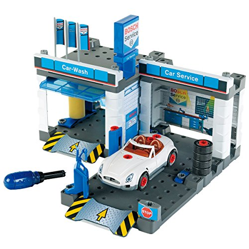 Theo Klein - Bosch Car Repair Station Premium Toys for Kids Ages 3 Years & Up
