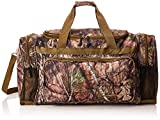 Explorer The Mossy Oak Infinity Duffel Bags are Built with Water Resistant 600D Polyester Material.