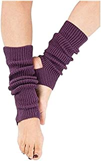 Zomiee, Calcetines de yoga para mujeres y niñas Calcetines de entrenamiento sin dedos para entrenamiento de danza calentadores de piernas