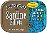 BRUNSWICK Wild Caught Sardine Fillets in Spring Water, 18 Cans, 3.75 Ounce (Pack of 18)