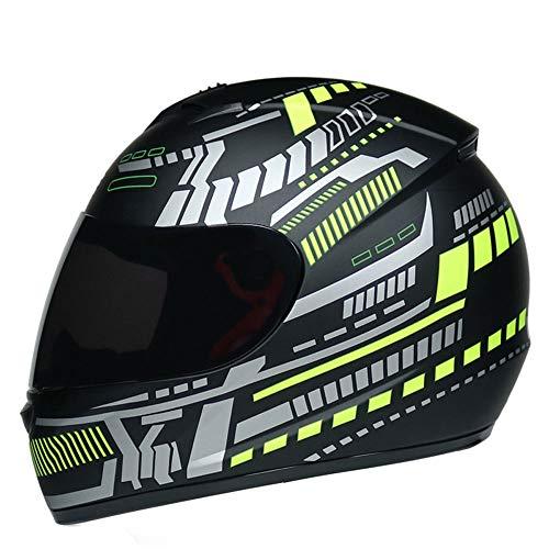 Full Face Motorrad Helm,Männer Frauen Sonnenblende Motorrad Helme Outdoor Moto Zubehör Mountain Motocross Cap für 4 Jahreszeiten