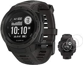 Garmin Instinct Rugged Outdoor Rugged با GPS و مانیتورینگ ضربان قلب با Deco Essentials 2-Pack محافظ صفحه نمایش غریزه