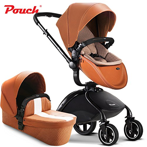 Best Prices! Pouch 2 in 1 fold Baby Stroller Set, Aluminium Alloy Frame Baby Pushchair, Rubber Wheel...