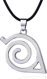 AILUOR - Collar con colgante de Naruto de dibujos animados, símbolo de pueblo de hojas, logo cosplay