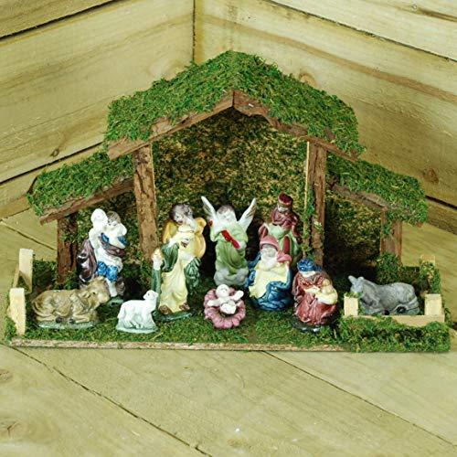 Toyland 12 Piece Traditional Christmas Nativity Scene - Christmas Decorations