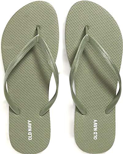 OLD Navy Women's Flip Flops (Olive Size 8)