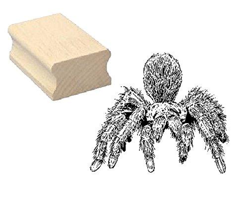 Stempel, houten stempel, motiefstempel, vogelspin, scrapbooking, embossing, kinderstempel, dierstempel, spin, terrarium, dierpark
