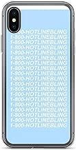 joyganzan 1-800-HOTLINE Bling Blue Case Cover Compatible for iPhone (7/8)
