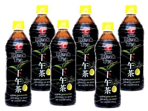Oishi - Schwarztee mit Grünem Tee Getränk - 6er Pack (6 x 500ml) - Drink aus Thailand