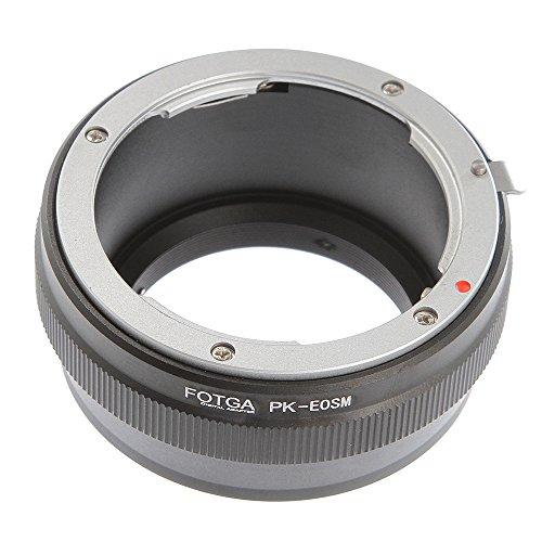FOTGA Pentax K/PK - Anillo adaptador para cámara Canon EOS M M1...