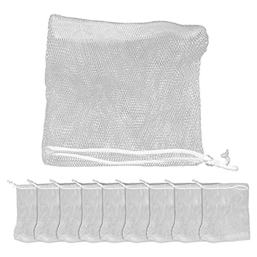 Bolso De La Malla De La Burbuja De Jabón, Compacto Simple Del Bolso Que Hace Espuma Del Jabón Para La Limpieza De La Cara Del Cuerpo Para La Ducha De Baño