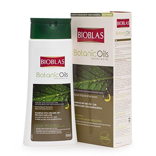Bioblas Botanic Oils, Olivenöl Shampoo, dermatologisch getestet, Anti Haarausfall Shampoo für Mann und Frau für trockenes und geschädigtes Haar, mit Bio-Öl, 360 ml