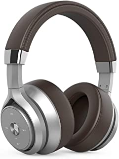 Bluetooth Wireless Headphones with Microphone Foldable Over Ear Bluetooth Soft Memory-Protein Earmuffs 5.0 Headset for Mobile Phone PC,Brown
