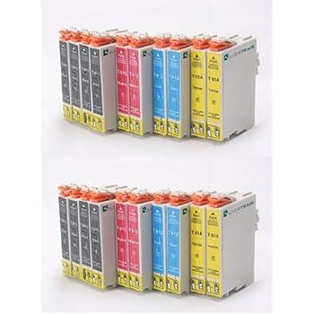 20 Xl Tintenpatronen Mit Chip Kompatibel Zu Epson T0615 Multipack 8x T0611 Black 4x T0612