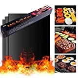 BBQ Grill Mats - 2 Non-Stick, Reusable Grilling Mats - Suitable for Barbecue Grills, Baking in The Oven and Your Smoker