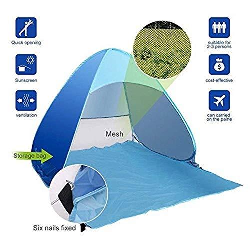 WFFF Schiff vom RU Strandzelt Ultraleichtes Klappzelt Pop Up Automatisches Offenes Zelt Familientourist Fisch Camping Anti-UV Voll Sonnenschutz