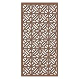 MDF Jali Deco Panel for Room Partition, Screen, Divider, Door (2 feet x 6 feet) 12 MM