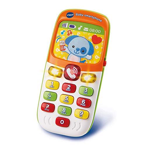 VTech - Baby Smartphone Bilingue Mixte, Téléphone Bébé, Jouet d'Éveil - Version FR
