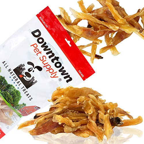 Downtown Pet Supply Natural Beef Tendons, Single Ingredient, Alternative to Bully Sticks, Healthy Dog Treats, 4 inch - 7 inch Long (25 Pack)