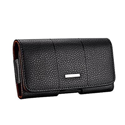 Yuzihan Fit for iPhone 11 Pro iPhone X iPhone Xs iPhone XR Holster Belt Pouch Premium Genuine Leather Holster with Belt Clip Belt Loop Fit with Slim Case/Otterbox Slim Case/Spigen Case On