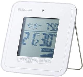 エレコム 温湿度警告計 デジタル 熱中症・ウィルス対策 警告アラーム コンパクトサイズ ホワイト OND-03WH OND-03WH
