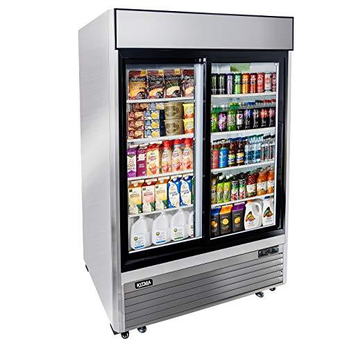 2 Sliding Door Merchandiser Refrigerator, Commercial Refrigerator with LED Lighting, 48 Cu. Ft....