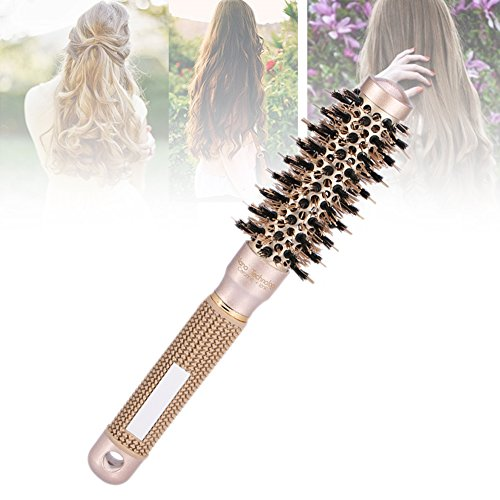 Brosse à Cheveux en Céramique Peigne Ronde avec Poignée Antidérapante des Cheveux Bouclés pour le Salon de Coiffure ou la Maison 1pc (25mm)