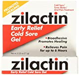 Zilactin Cold Sore Gel, Medicated Gel - 0.25 OzGel (Pack of 2)