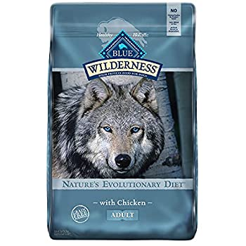 Blue Buffalo Wilderness High Protein Grain Free Natural Adult Dry Dog Food Chicken 24-Lb