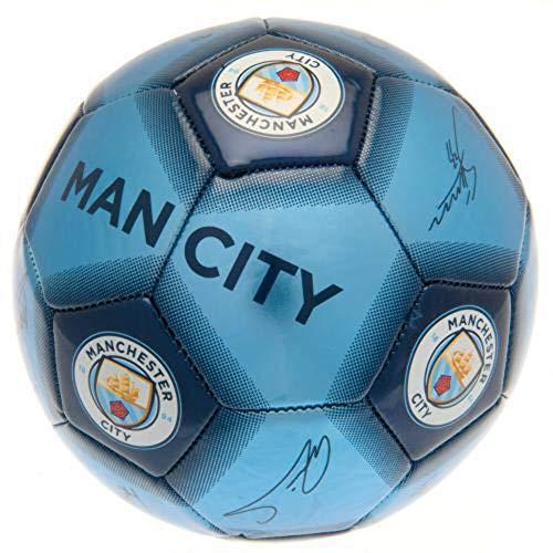 Verein Lizenziert Manchester City Autogramm Fußball - 05
