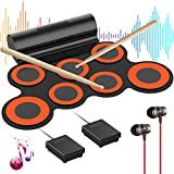Electronic Drum Set for Kids G7 Pro, Roll Up Practice Pad Midi...