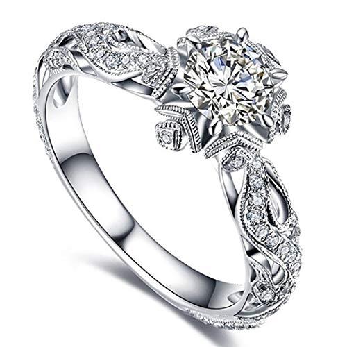 Anello da sposa con gemme artificiali incavate