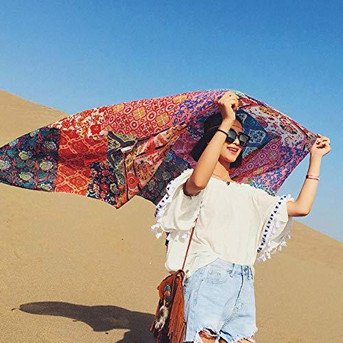 ZAMi Seidenschal Damen Sommerschal Dual-Purpose Strandtuch Sonnenschutz-Farbe