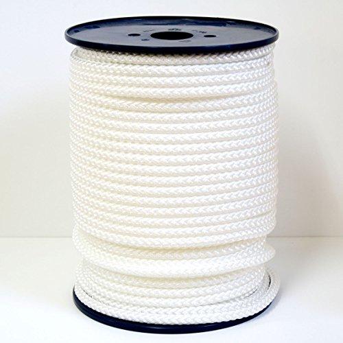 FTM® Springseil Tau Seil PP Weiß Weiss Meterware Rollenware Ø 9mm Fitnessseil 90 Meter