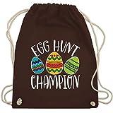 Shirtracer Ostern Kinder - Egg Hunt Champion - wieß - Unisize - Braun - Egg hunt champion - WM110 -...