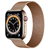 Compatible for Apple Watch Band ,Stainless Steel Magnetic Absorption Strap Metal Mesh Wristband Sport Loop for Aple Watch 38 mm 40mm 42 mm 44mm Series 6/SE/5/4/3/2/1 (Rose Gold,38MM/40MM)