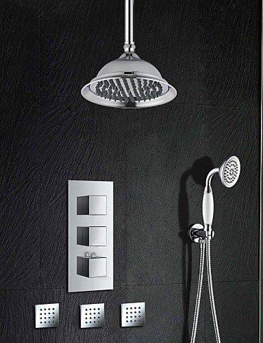 MEICHEN Grifo de ducha - Antiguo - Con Termostato - Latón (Cromo)