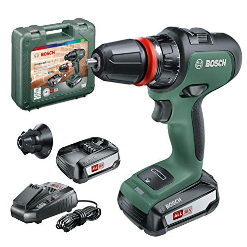 Bosch Home and Garden Bosch AdvancedImpact 18 (HMI), 06039B5101, Trapano Battente-Avvitatore brushless, con 2 batterie, 18 V, V