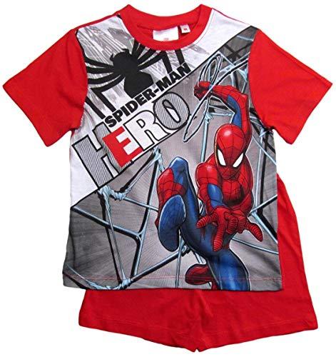 Spiderman Pyjama Kollektion 2018 Shortie 98 104 110 116 122 128 Shorty Kurz Jungen Sommer Neu Schlafanzug Marvel Ultimate Amazing (Rot, 122-128)