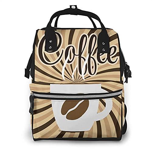 AOOEDM Mochila grande de la bolsa de pañales del café, mochila impermeable multifuncional de la momia para los papás de las mamás de maternidad