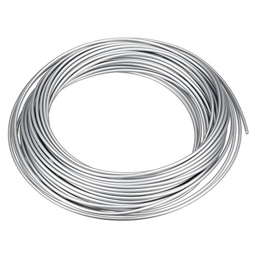 N/A Recharge de Filament pour Stylo d'imprimante 3D, Longueur 32,8 Pieds, diamètre 1,75 mm, PLA, précision dimensionnelle / - 0,02 mm, pour Peinture et Dessin 3D, Ton Argent