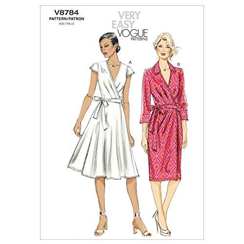 VOGUE PATTERNS V8784 Misses Dress, Size A5 (6-8-10-12-14)