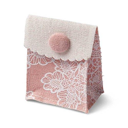 4 pochettes à dragées lin Gypsy vieux rose