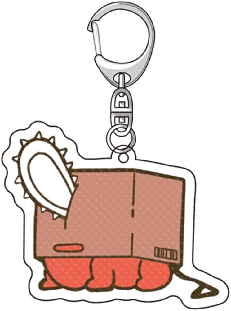 HHLAnime Chainsaw Man Keychain Power Acrylic Keyrings Accessory Anime
